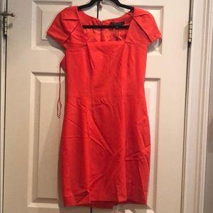 NWT Rachel Roy Orange Cap Sleeve Dress Size 6